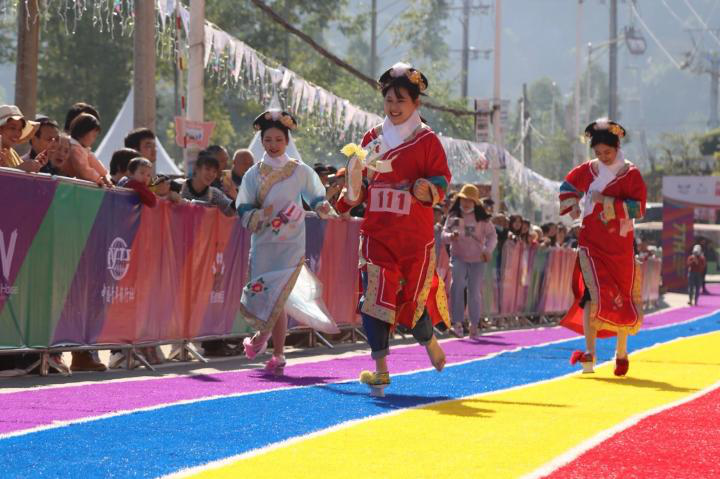 Flowerpot shoe race (Picture provided by the sponsor)