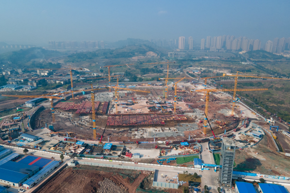 Chongqing Longxing Football Field project (Provided by China Construction Eighth Engineering Division Co., Ltd.)