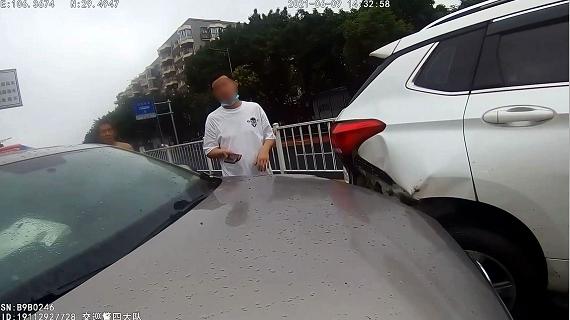 图片3:司机罗某。 高新警方供图 华龙网发