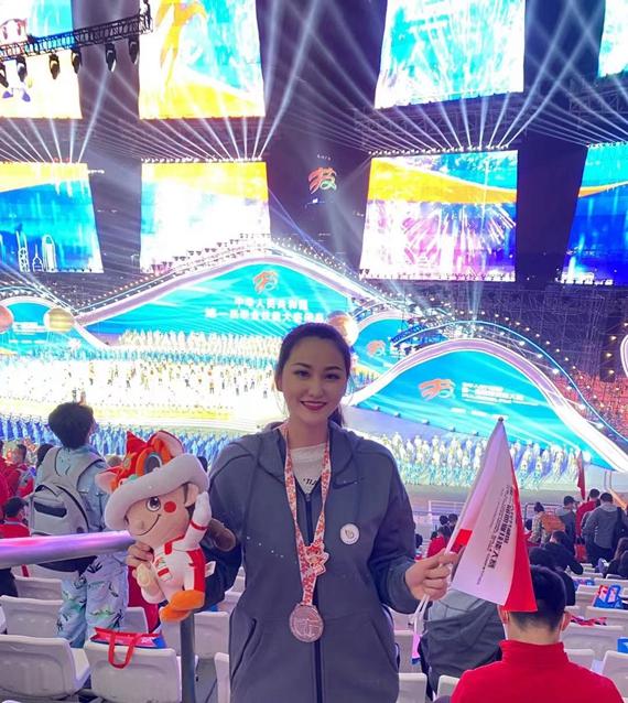 郑雅婷在国赛现场 受访者供图 华龙网发