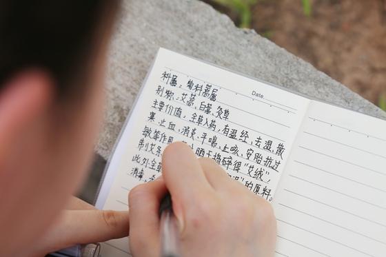 学生记录中草药的药效 学校供图 华龙网发